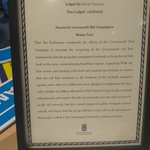 Image for the Tweet beginning: Delighted to receive a framed