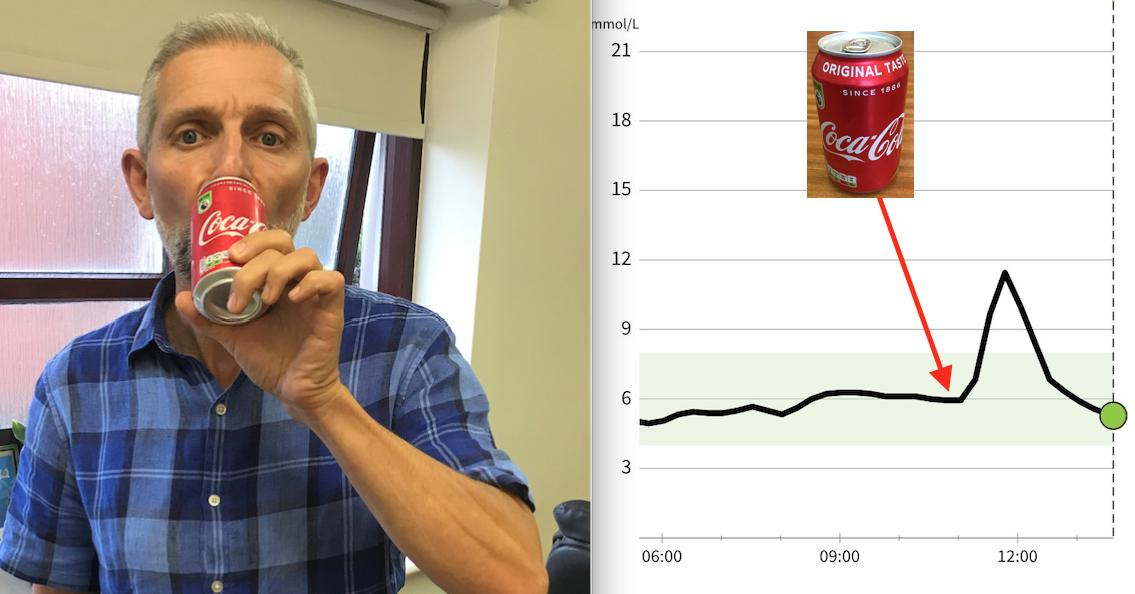 will drinking diet coke affect a blood glucose