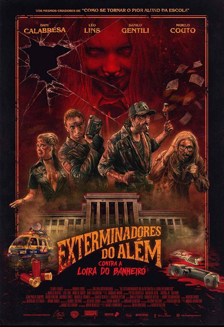 One of the many things I adore about @FrightFest #ArrowFrightFest is that they always show WTF films. There were two this year, both I absolutely adored. They are Ghost Killers vs Bloody Mary & The Drone