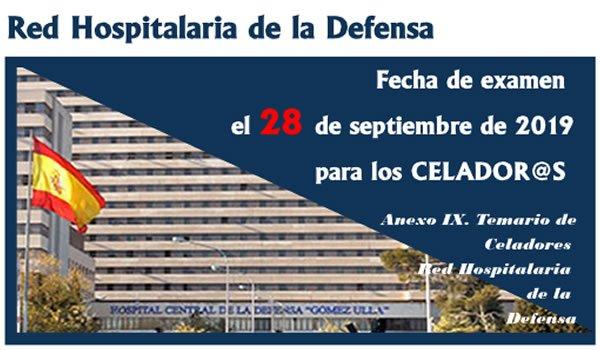 El próximo 28 de septiembre será el examen de Celador@s de la OPE Red Hospitalaria de la Defensa... EDDmUclXYAMaN6J?format=jpg&name=small