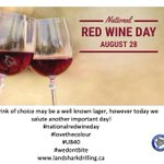Image for the Tweet beginning: #nationalredwineday
