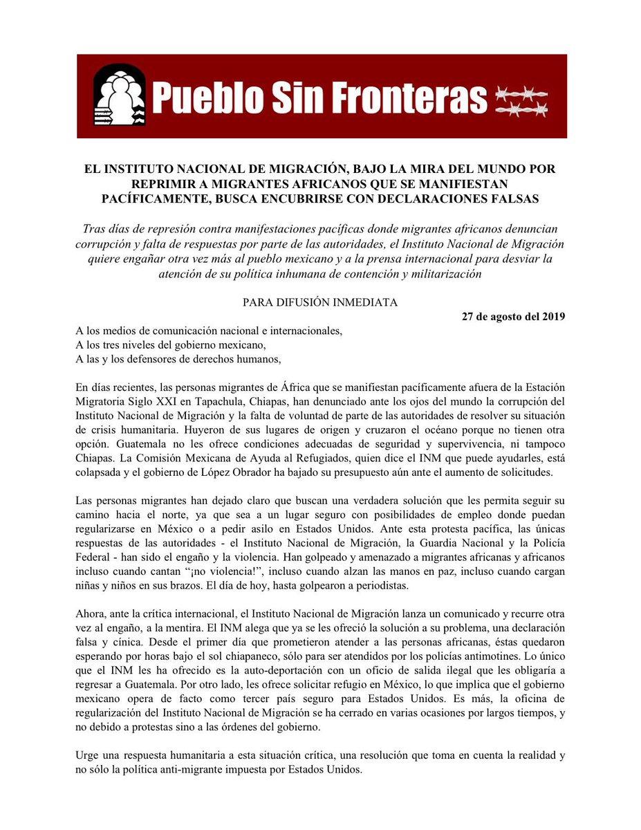 Pueblo Sin Fronteras (@PuebloSF) | Twitter