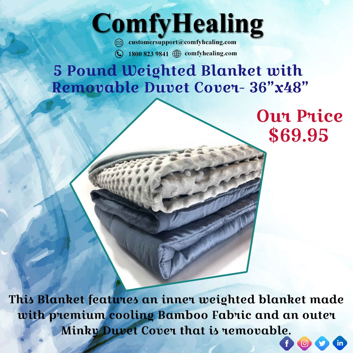 Bamboo Weighted Blanket Canada 2019 Inspirational Throw