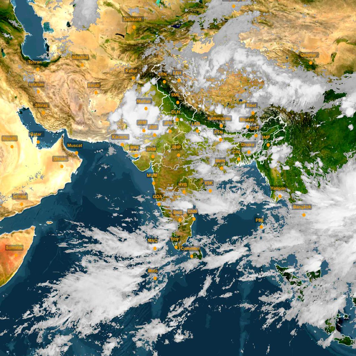 india satellite weather map today Skymetweather On Twitter Weather Satellite Image And Map Of india satellite weather map today