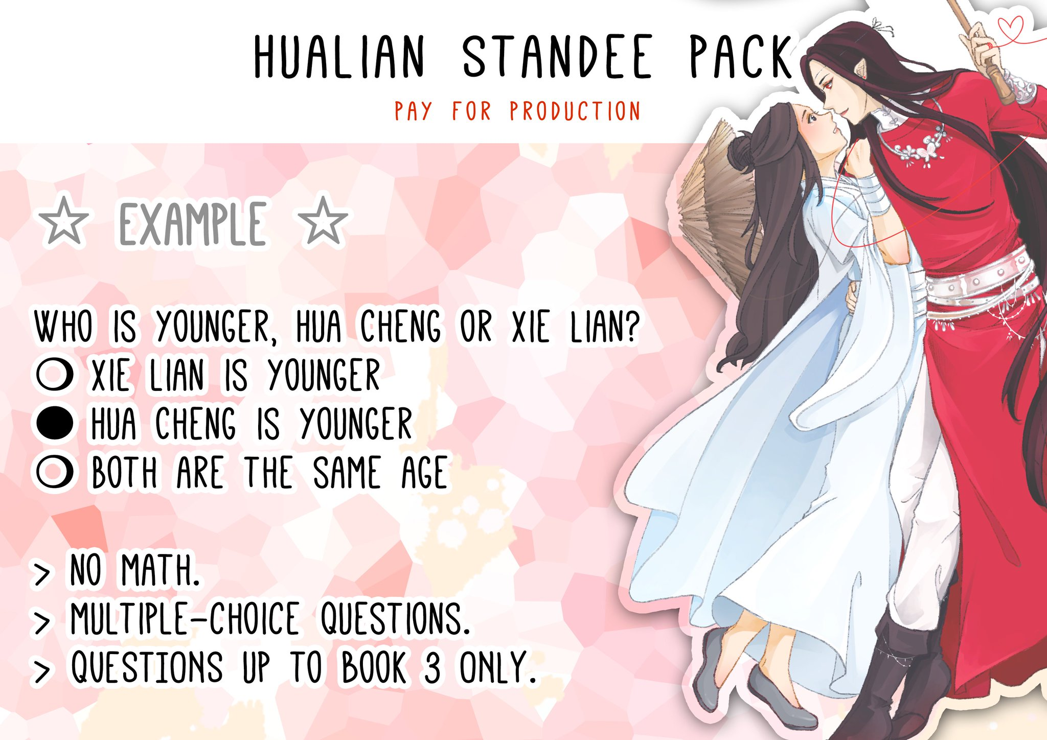 Goldfish Meg On Twitter Hualian Standee Pack 1 Sept 10am And 2pm Gmt 8 Cost Shipping List Here Https T Co Rkp4bpeeng Each Hualian Pack Will Include 1 Hualian Standee 2 Insta Cards