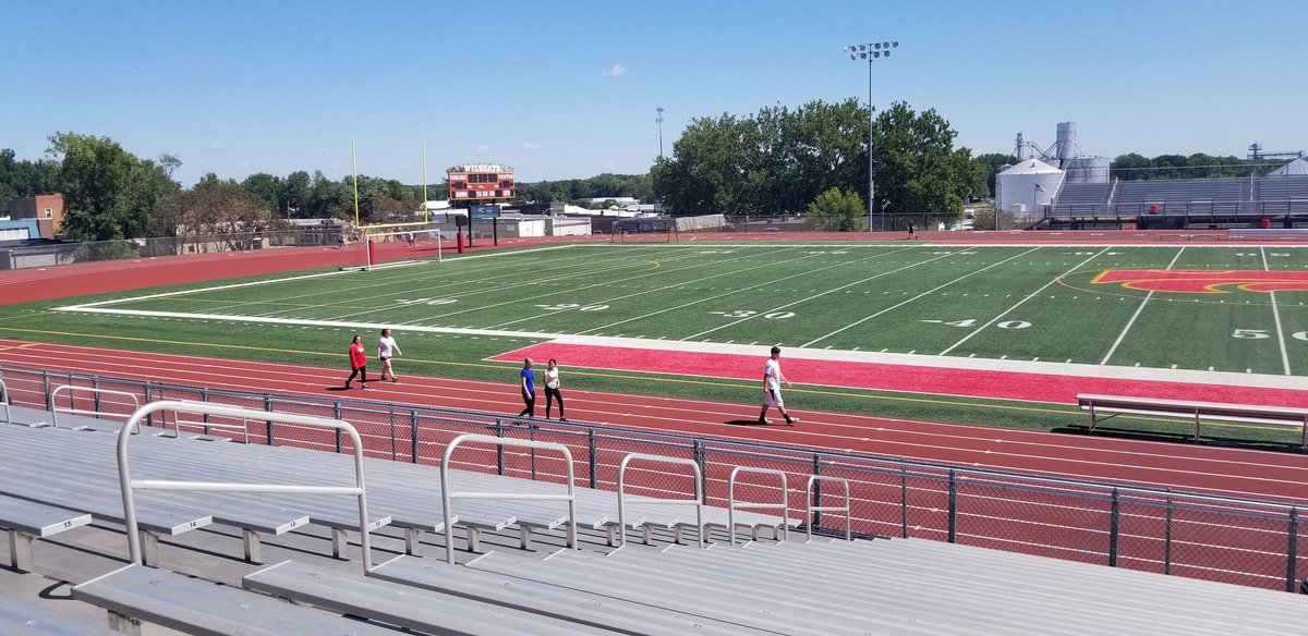 Another great day to be outside for our Fitness Unit!  1/cardio day around the track!  #CHSPEROCKS #getoutandmove #makingabetteryou #GoCats<br>http://pic.twitter.com/ixTDZ6T6vz