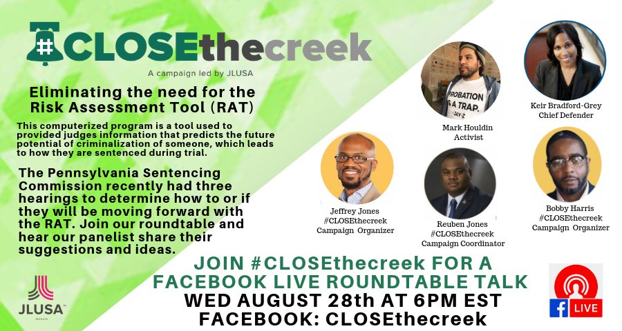 🚨Tonight! Join the conversation! #ClosetheCreek a campaign by @JustLeadersUSA.