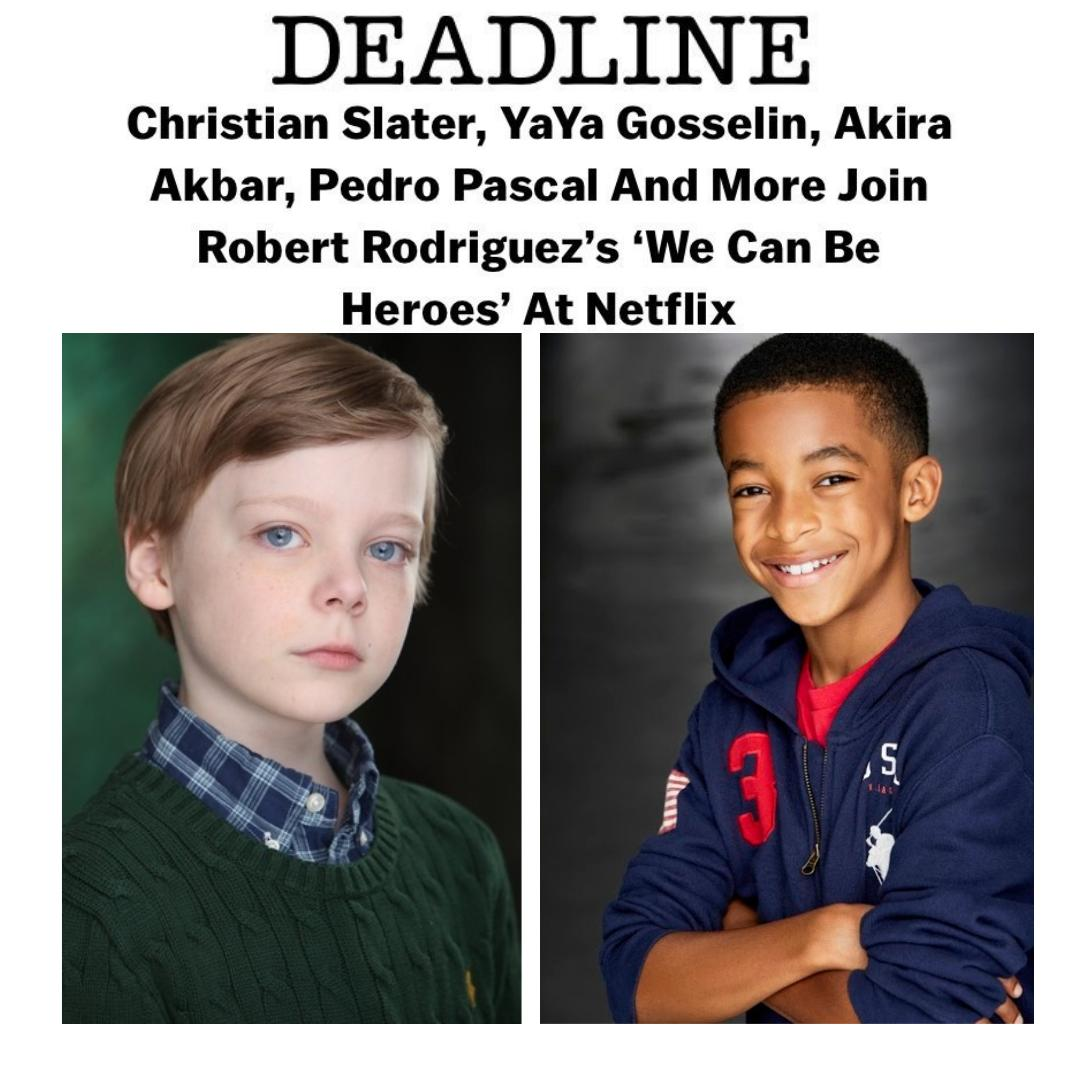 Clear Talent Group On Twitter Exciting News A Double Dose From Ctg Youth Department Featuring Andy Walken And Isaiah Russell Bailey In Robert Roriguez S Upcoming Netflix Movie We Can Be Heroes We Re