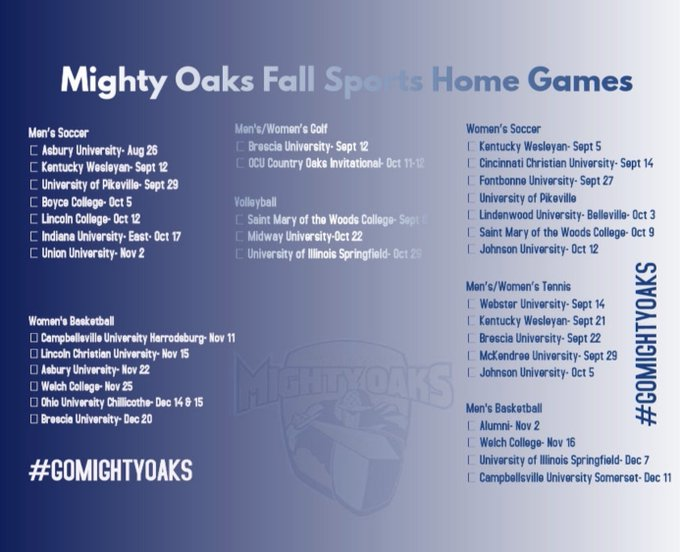 Oakland City University Athletics - Official Athletics Website