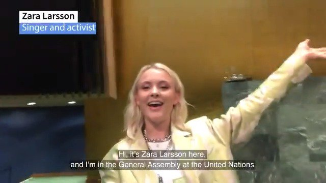 Achieving gender equality and women's empowerment is among the #GlobalGoals! Singer & activist @zaralarsson recently visited the @UN & learned what the Organization is doing to make the world a better place for all women and girls. More info on SDG5 🔗 bit.ly/2H87wXA