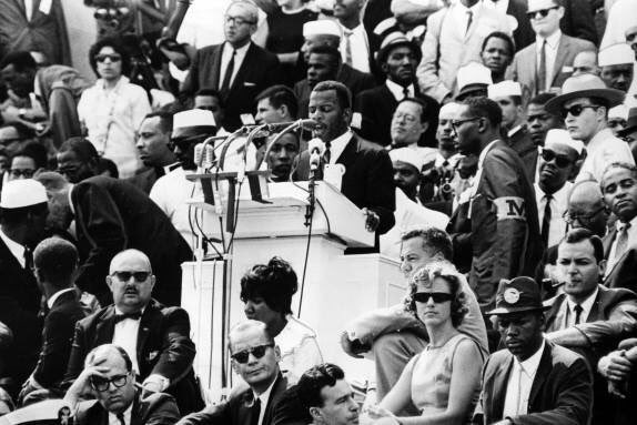 56 years ago today, we Marched on Washington for Jobs and Freedom. Today we continue to fight for the progress we sought in 1963–livable wages, fair housing, equal education. We must continue to speak up & stand up, to find a way to get in the way to build the Beloved Community.