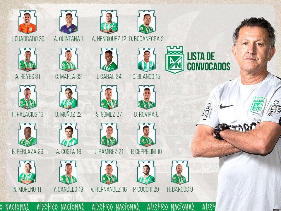 #EquipoProfesional | 📋 Los convocados por el profe para la ida de los cuartos de final de Copa contra Tolima #SomosLaPasión 💚 https://t.co/vAcf6KLF7w