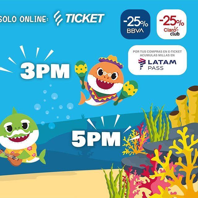 BABY SHARK, En Vivo! en Lima  ÚNICAS 4 FUNCIONES: • Fecha: sábado 9 de noviembre • Funciones: 10 a.m., 12 p.m., 3 p.m., 5 p.m. • Lugar: Centro de Convenciones Scencia La Molina • Ventas de entradas en E- Ticket : https://t.co/7YgpPZbeem • 25% de descuento con tarjetas B… https://t.co/E6f6EFPMxG