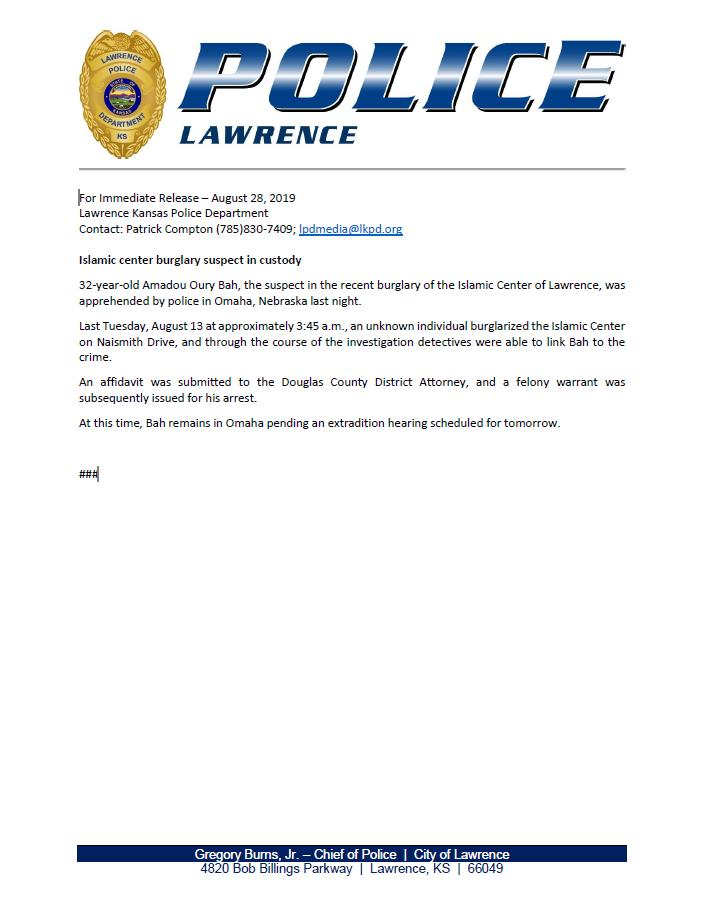 Lawrence Police (@LawrenceKS_PD) | Twitter