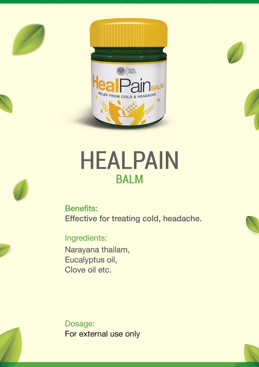 A soothing and effective balm for your headaches and cold from AVP! #headache #balm #cold #avpforlife #avpforhealth #avpforbetterhealth #healingthroughayurveda Buy it here: shop.avpayurveda.com/default/cofhea…