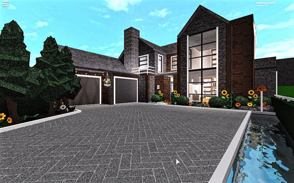 20 000 Modern House Build Roblox Bloxburg Mansions 62