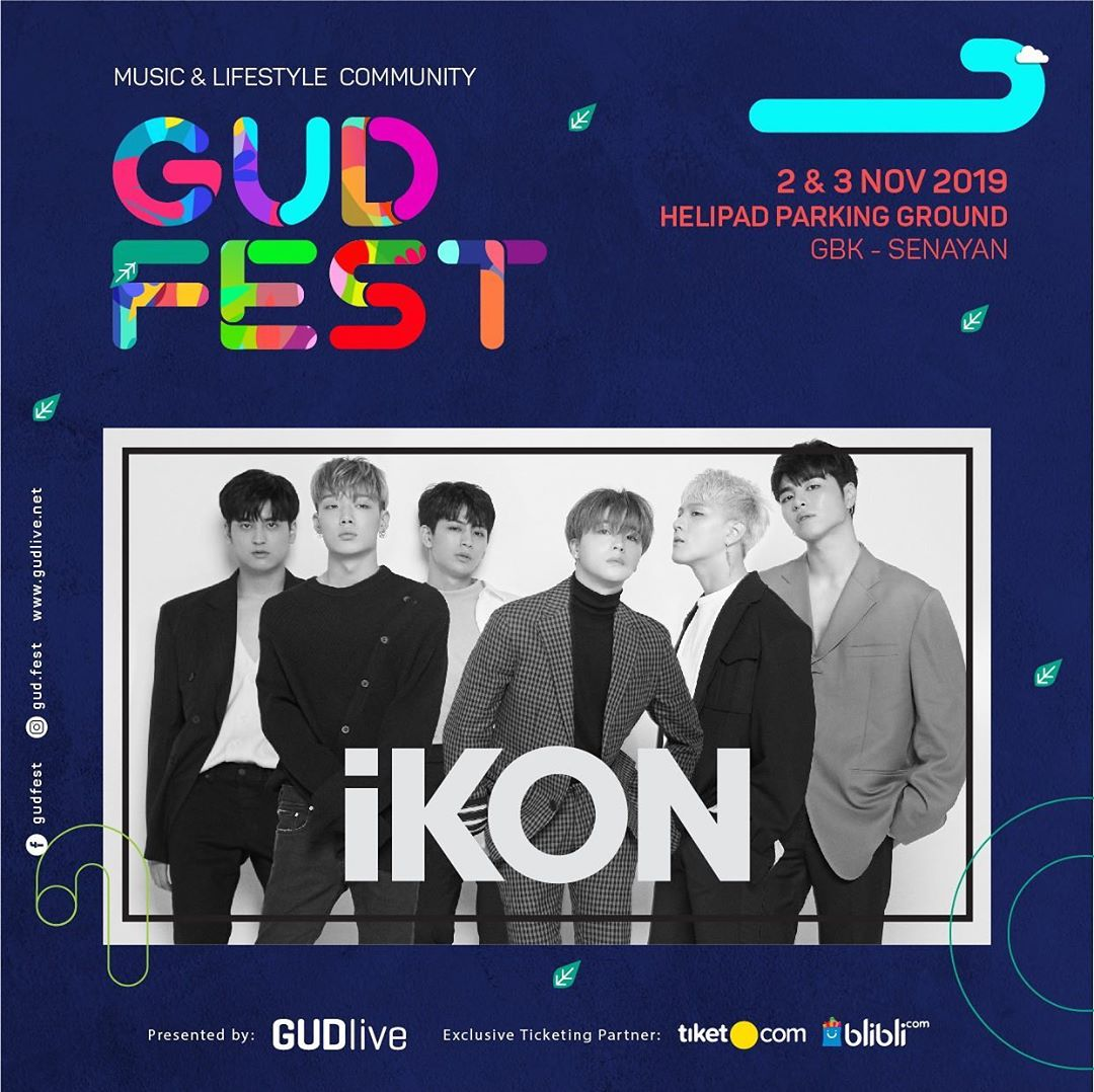 [#iKONSCHEDULE] iKON will attend GUD FEST in Indonesia at 2 & 3 November 2019. instagram.com/p/B1u2jqQHQid/… #iKON #아이콘 @YG_iKONIC