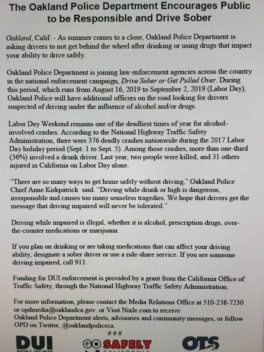 Oakland Police Dept  (@oaklandpoliceca) | Twitter
