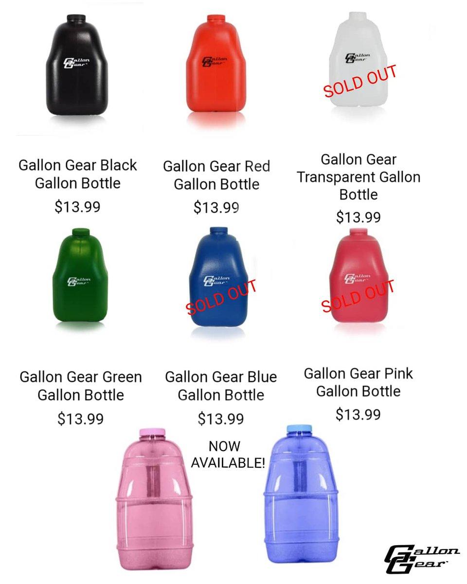 Gallon Gear Black Gallon Bottle