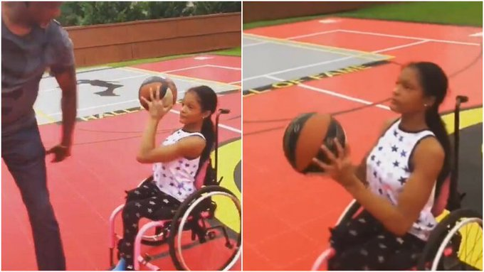 【影片】偉大的父愛!Wilkins帶下肢癱瘓女兒投籃