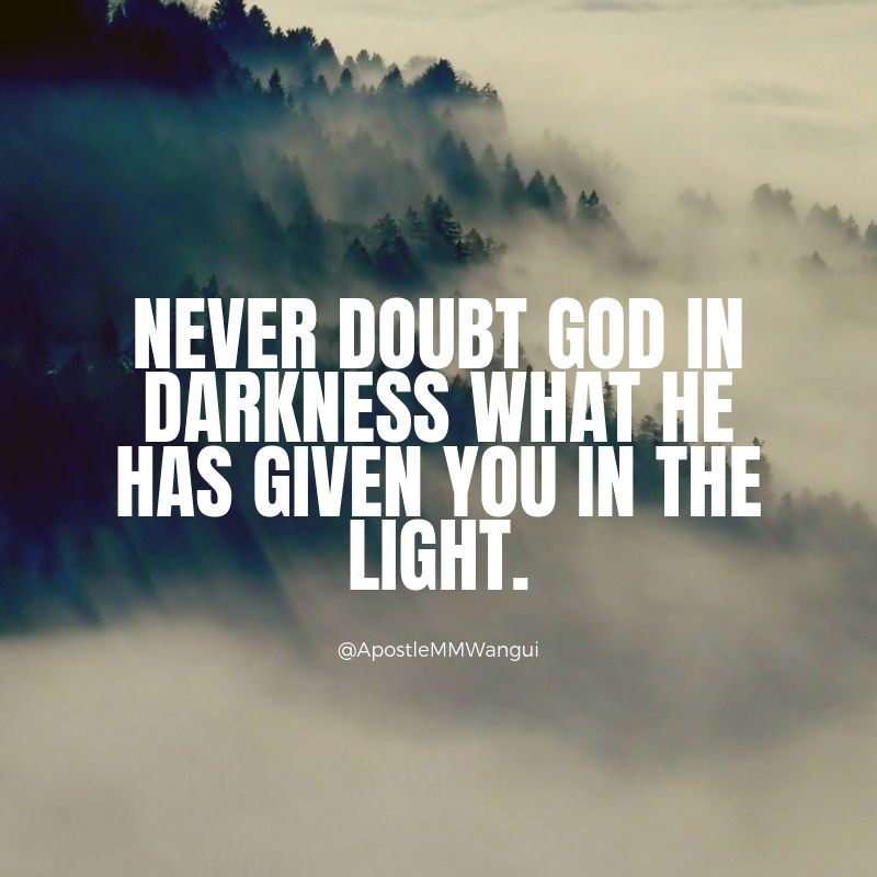 Never doubt God in darkness what He has given you in the light. #ThanksGivingThursday ___________________________ #TBT #ThursdayFunDay #ThankfulThursday #ThursdayThoughts #ThursdayWisdom