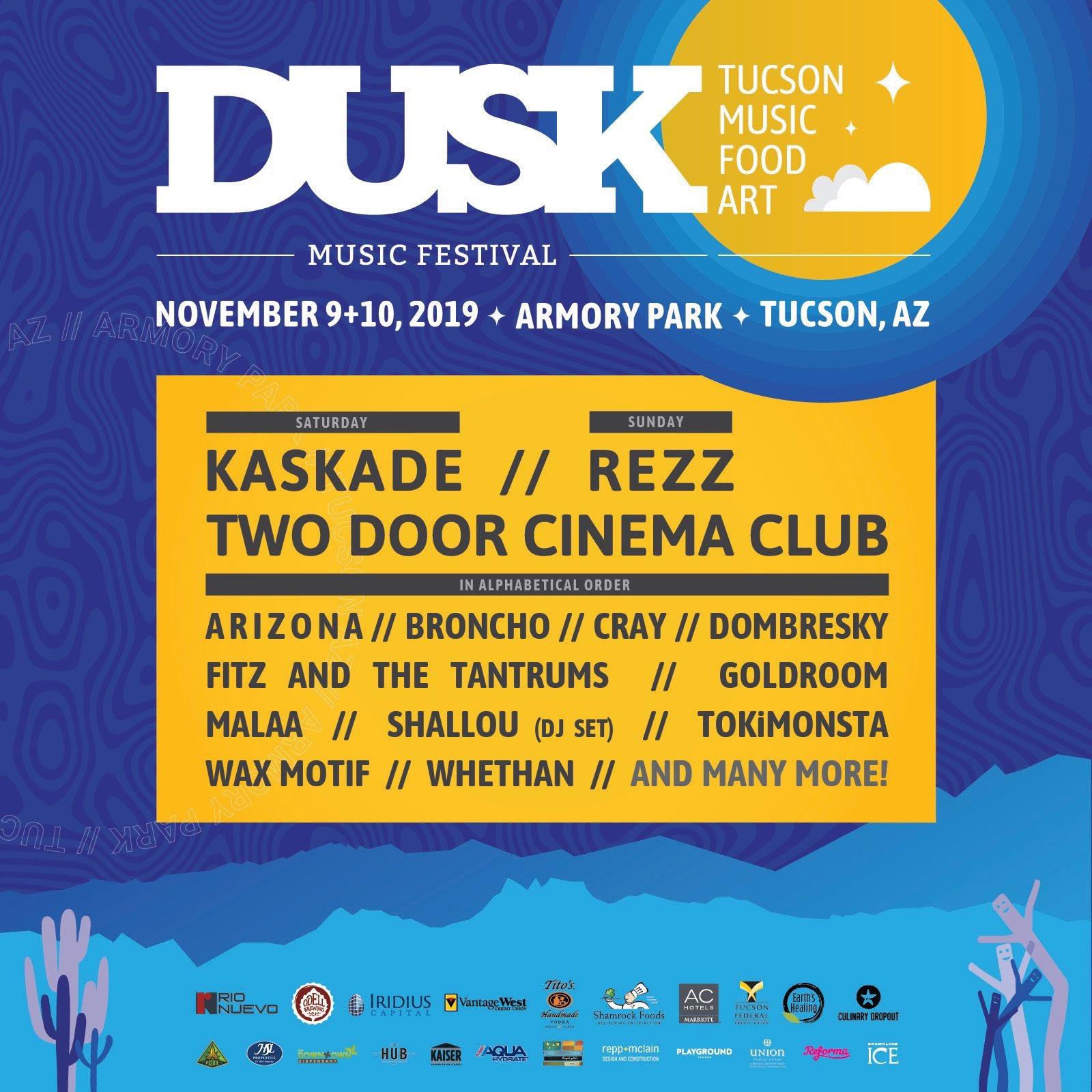2019 Dusk Music Festival lineup