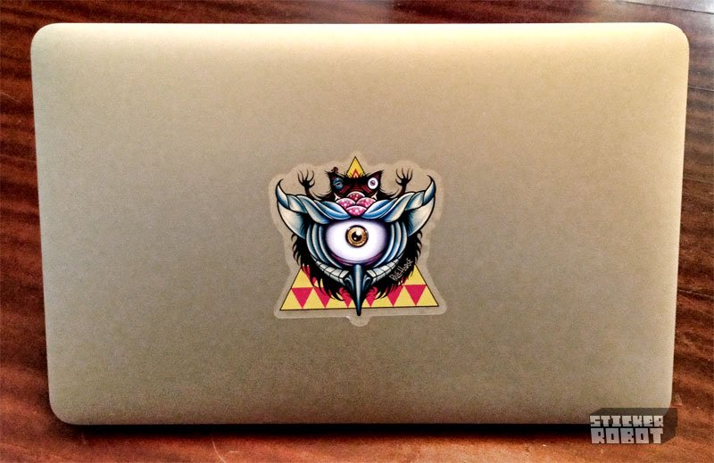 Behold! Custom Laptop Stickers. A Tutorial by @palehorsedesign stickerobot.com/blog/sticker-t…