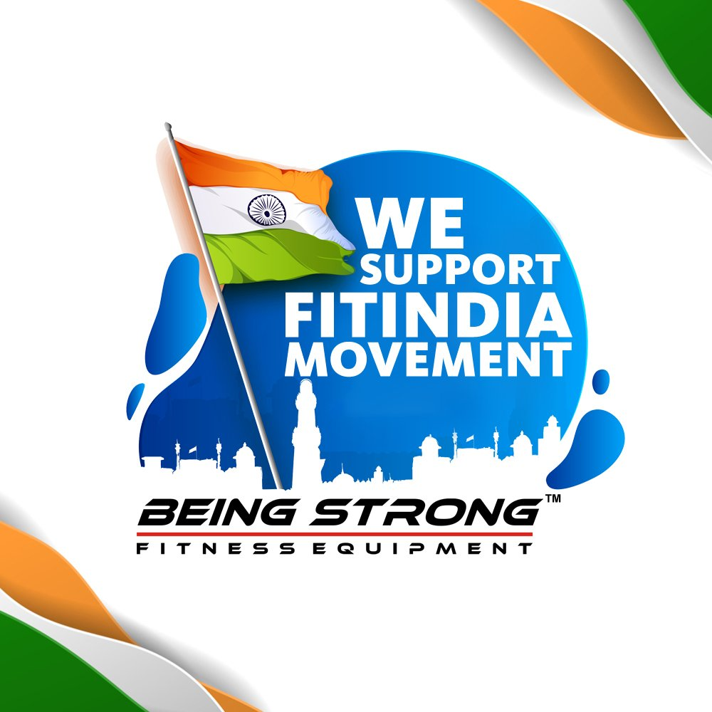 We Support FitIndia Movement. Being Strong Supports FitIndia Movement. #fitindia #beingfit #beingstrong #humfittohindiafit