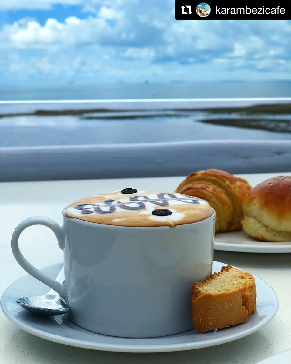 💙💙 Morning moments...✨😍 Karibu everyone...💫 #BreakfastViews  #CappuccinoPerfection #KC✨#karambezicafe https://t.co/fxZ2FGP9sP