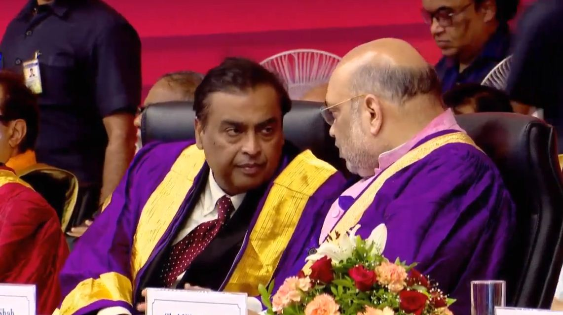 Mukesh Ambani terms Amit Shah as 'the iron man of our age'
