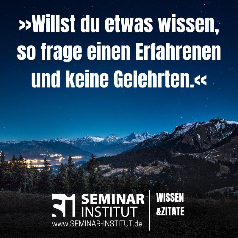 Seminar Institut Twitterissä Kluge Menschen Suchen Sich