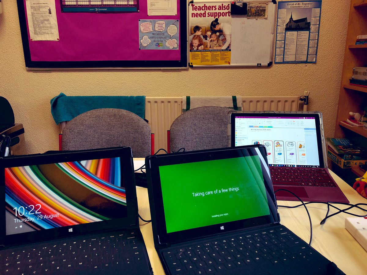#TakingCareOfAFewThings 🏫 ⏰🇮🇪☘️💚💜💙 #BackToSchool made easy with #MicrosoftEdu & #Microsoft365