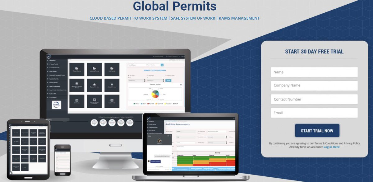@_globalltd: Contact us now for a FREE 30 day trial on our cloud-based permit to work and rams management system