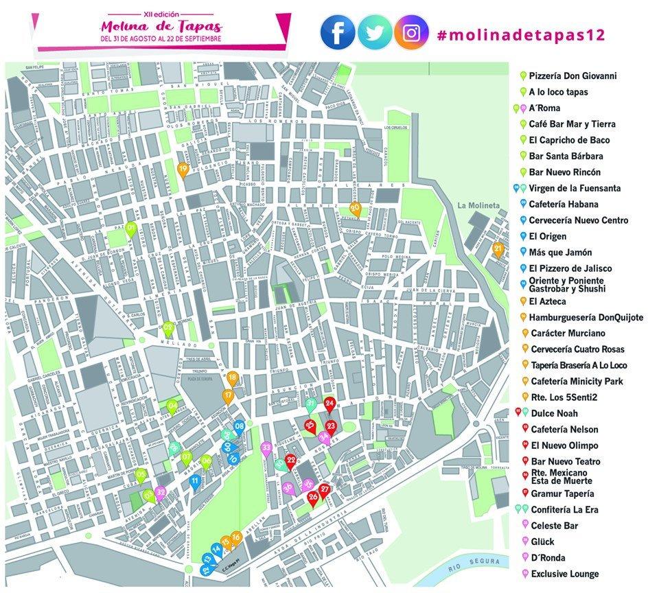 Mapa Molina De Segura.Molina De Tapas On Twitter Vas A Venir A La Ruta De La