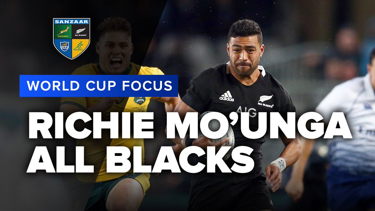 WORLD CUP FOCUS | Richie Mounga, All Blacks We cant wait to see what All Blacks playmaker Richie Mounga brings to his first World Cup! More of this we hope! #RWC2019