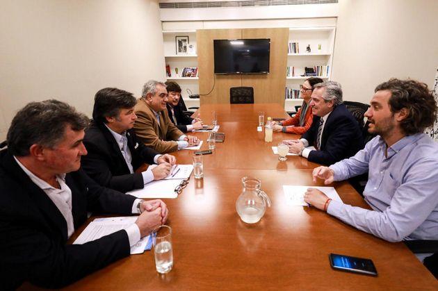 Alberto Fernández se reunió con la Mesa de Enlace del campo