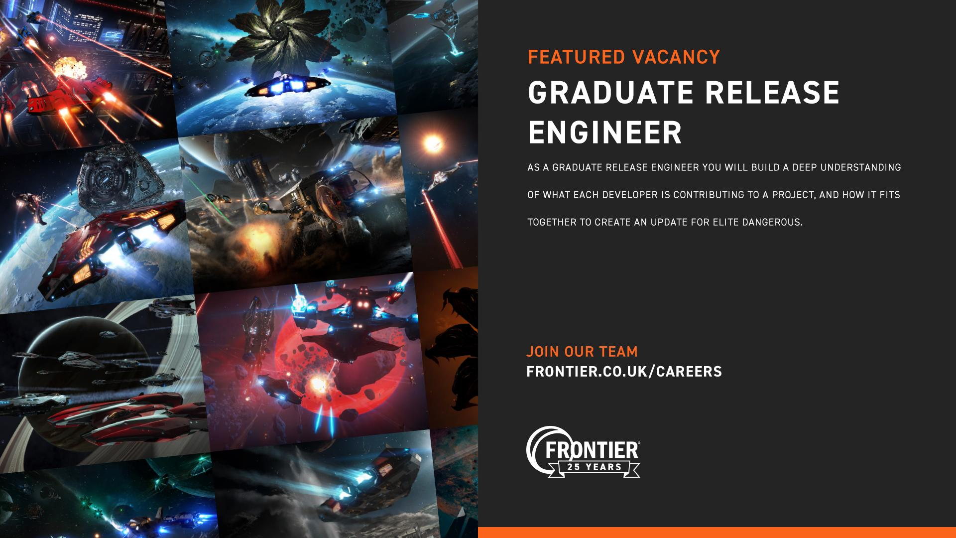 Frontier On Twitter Are You Looking For Your First Role In The Games Industry Come And Join Frontier As A Graduate Release Engineer And Contribute To The Technology That Powers The Game