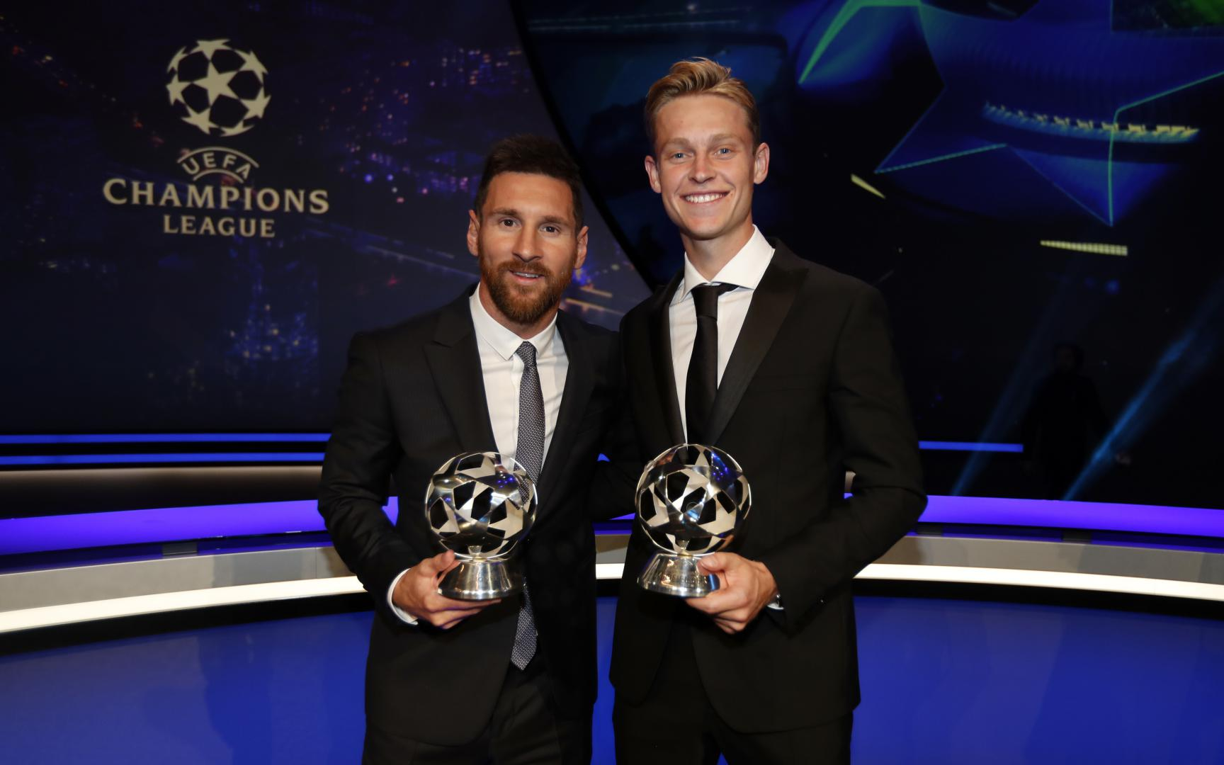 UEFA Forward and Midfielder of the year - Lionel Messi and Frenkie De Jong - FC Barcelona