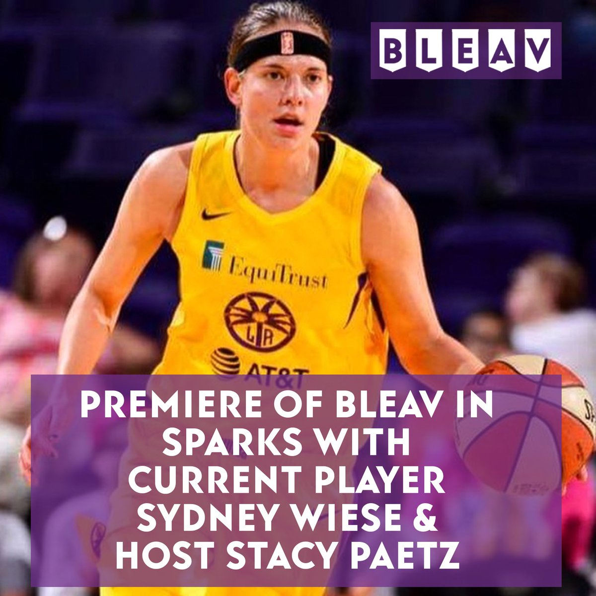🏀 Premiere of Bleav in Sparks 🏀  And what a combo of hosts.  Current @LA_Sparks player @swiesebaby24 & national host @StacyPaetz bring you a podcast completely dedicated to the LA Sparks.  Get to know Sydney & Stacy on episode 1 right here 🙌: https://t.co/dfKMuGgQ2E https://t.co/TNH8mqes6S