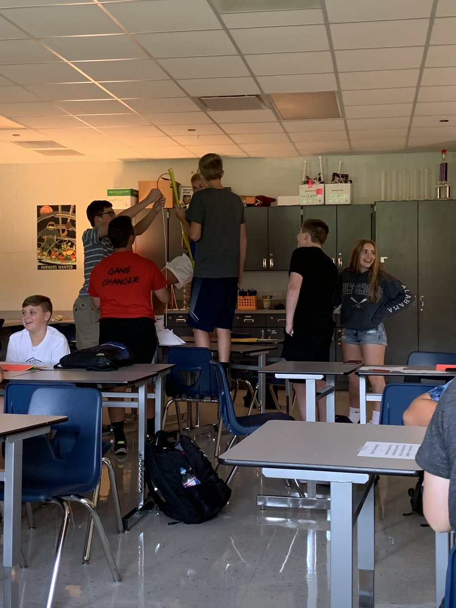 We're having such a great first couple of weeks in #IED I haven't stopped to post! First week was full of engineering design challenges to get students thinking and creating #PLTW @CHSCards https://t.co/l96xmsQdWe