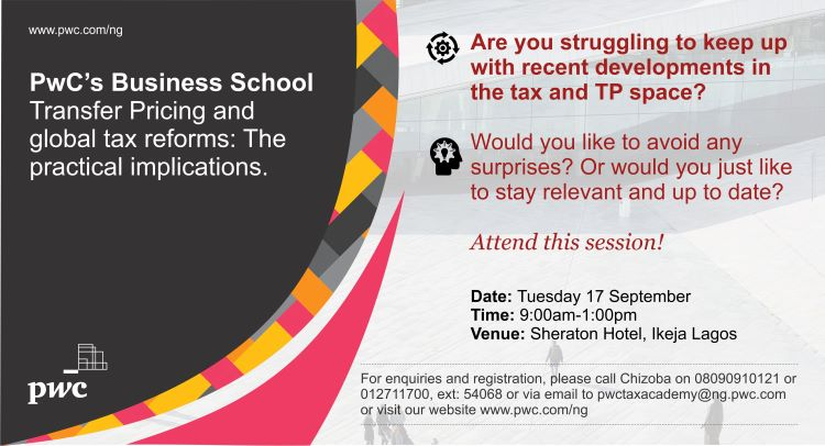 Are you struggling to keep up with recent developments in the tax and #TransferPricing space? The September edition of #TaxAcademy will discuss 'Transfer Pricing and global tax reforms: The practical implications'.  Register now to stay up to date:  http:// ow.ly/tUQ350vO17E    <br>http://pic.twitter.com/oypR7yTJ04