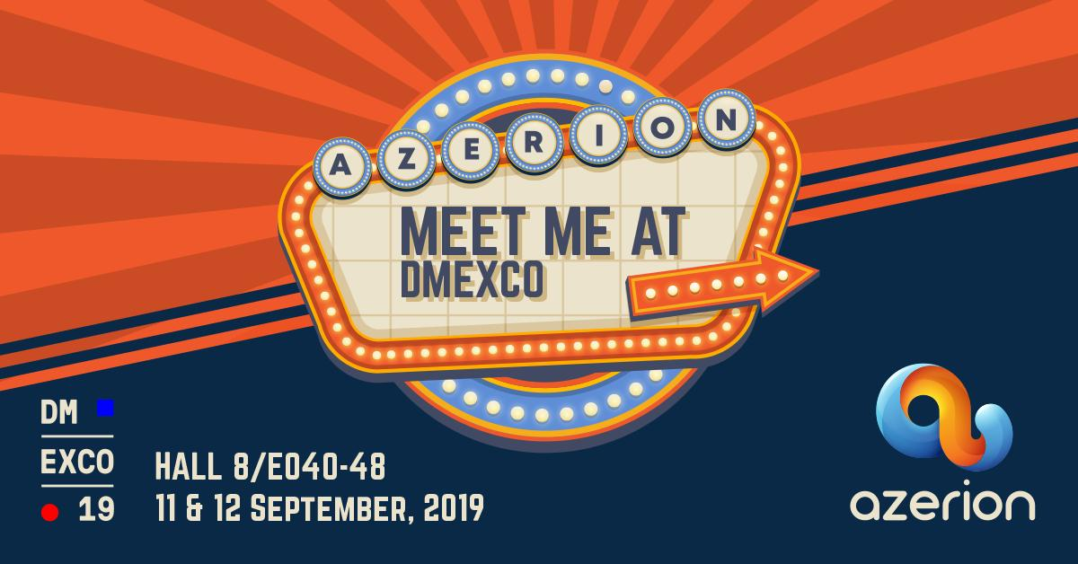 Planning on attending #DMEXCO19? So are we w/  @WeAreAzerion! Make sure to book a meeting with our team via the link! 👉 https://t.co/KZbi7UbhBM  cc : @cyrilzim, @mickae1ferreira, Romain Rossignol,  @_MathieuT, Quentin Riesi, @dubonweb   #simplyreach #DMEXCO19 https://t.co/7wkoplBCNm