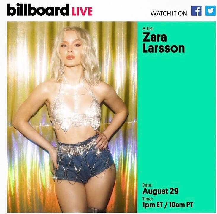 Performing on @billboard Live today followed by a Q&A! Submit allll your questions now using #BillboardLive ✨