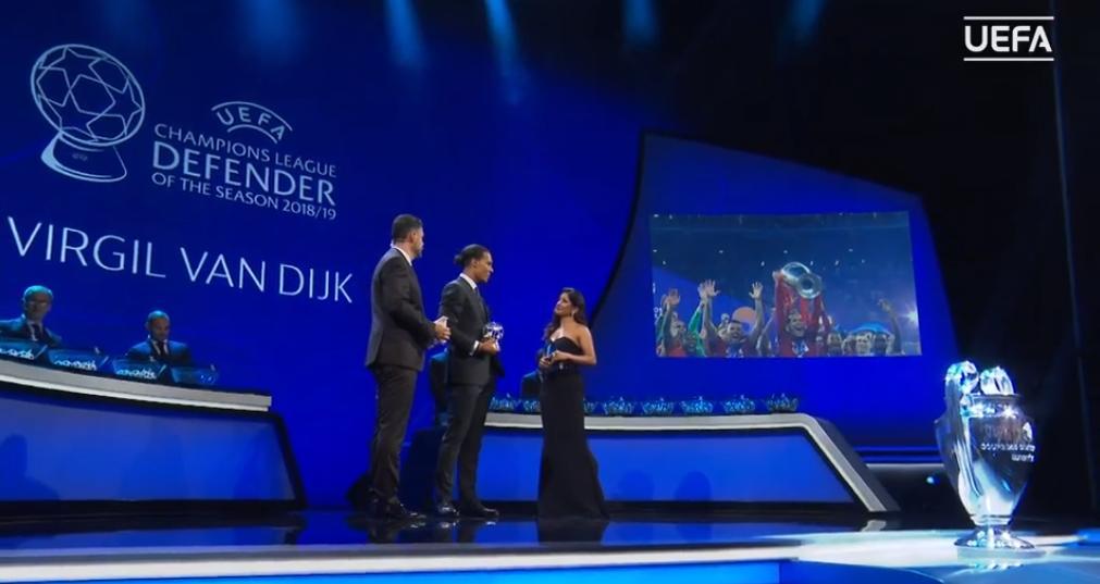 Liverpool's @VirgilvDijk - @UEFA Defender of the Year. #UCLDraw