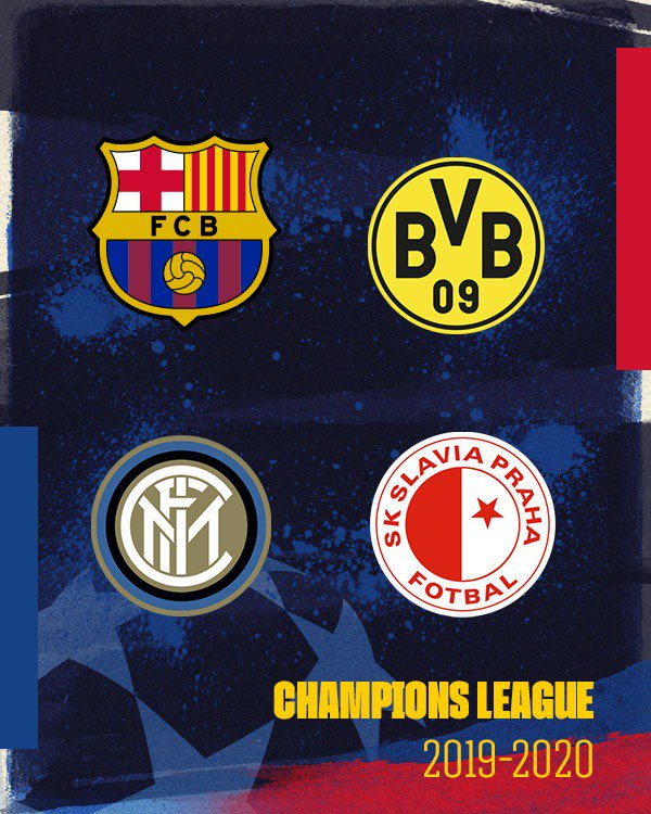 UEFA Champions League group stage draw - Barcelona Dortmund Inter Milan
