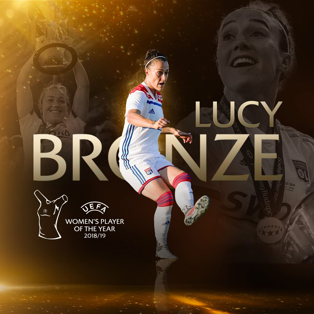 ✨ 2018/19 UEFA Women's Player of the Year ✨ 🏆 Lucy Bronze #UEFAawards