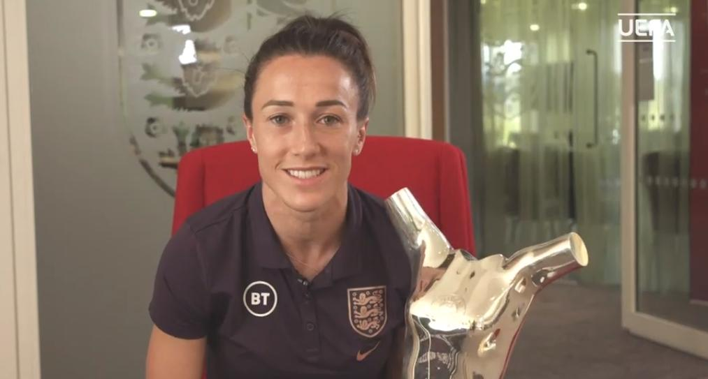 England's @LucyBronze is the winner of the @UEFA Women's Player of the Year award. #UCLDraw