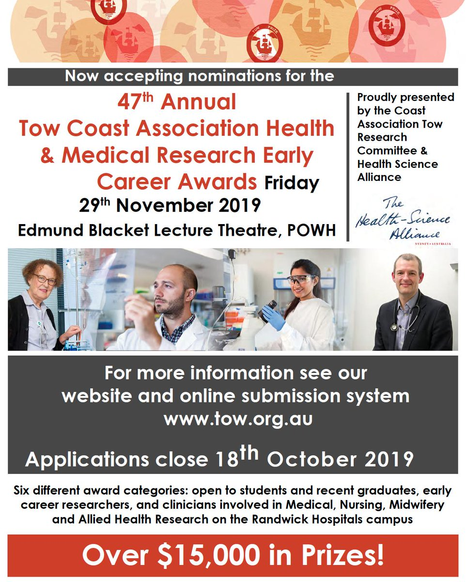 Tow Research Day is for junior investigators to present their basic and clinical research.  This fosters collaborations between clinical investigators and research scientists who are located at the many research institutes and hospitals around the Randwick hospitals campus.