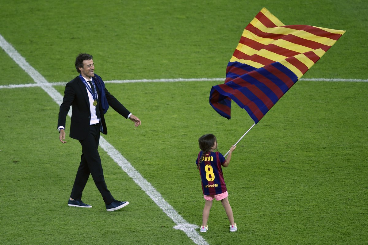 Image result for images of Luis Enrique loses daughter Xana to cancer