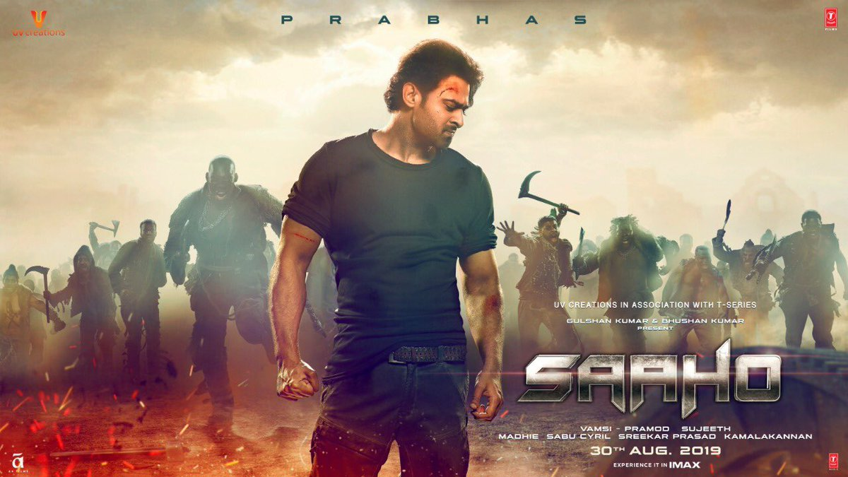 It's #WorldSaahoDay. Wishing our Baahubali #Prabhas and the entire team of #Saaho the very best for the GIGANTIC BLOCKBUSTER #SaahoInCinemas @UV_Creations @sujeethsign @ShraddhaKapoor @TSeries @GhibranOfficial @arunvijayno1<br>http://pic.twitter.com/rnizsUXiSs
